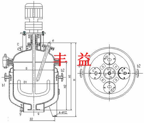 搪瓷反应釜结构图片
