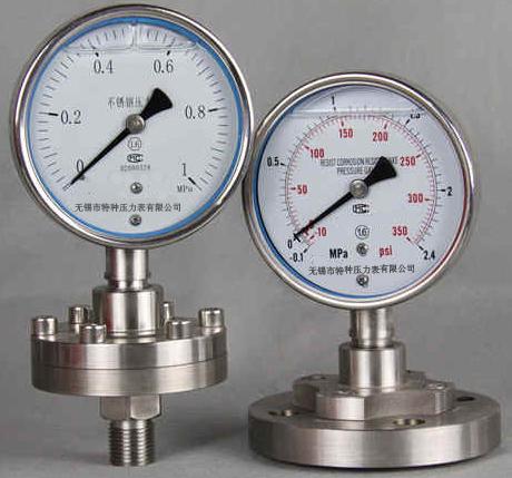 耐震隔膜压力表