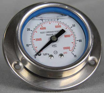 耐振带边盘装压力表