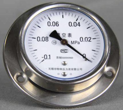 带边盘装耐震真空压力表