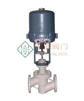 HPZDLPF电子式电动衬氟单座调节阀
