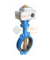 供应上海厚浦HPD971X电动软密封对夹蝶阀