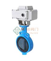 供应上海厚浦HPD971N对夹式电动软密封蝶阀