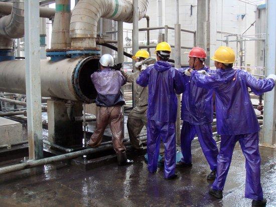 物理清洗与化学清洗 山东蓝晶防腐工程有限公司