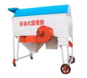 移动式大型除尘圆筒清理筛