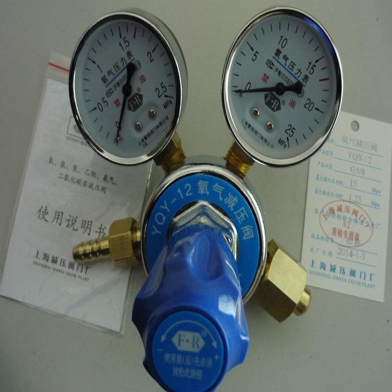 上海繁瑞氧气减压阀YQY-12氧气减压器YQY12氧气减压表YQY氧气压力表
