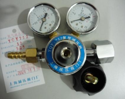 上海繁瑞氧气减压阀YQY-752钢瓶氧气减压器YQY752氧气减压表YQY