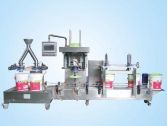 供应集瀚设备B阀真石漆自动灌装生产线DCSZD30B2GFY
