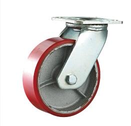 兄弟脚轮供应1500KG重型铁芯PU脚轮