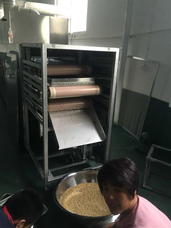新型多層五谷雜糧微波熟化設備