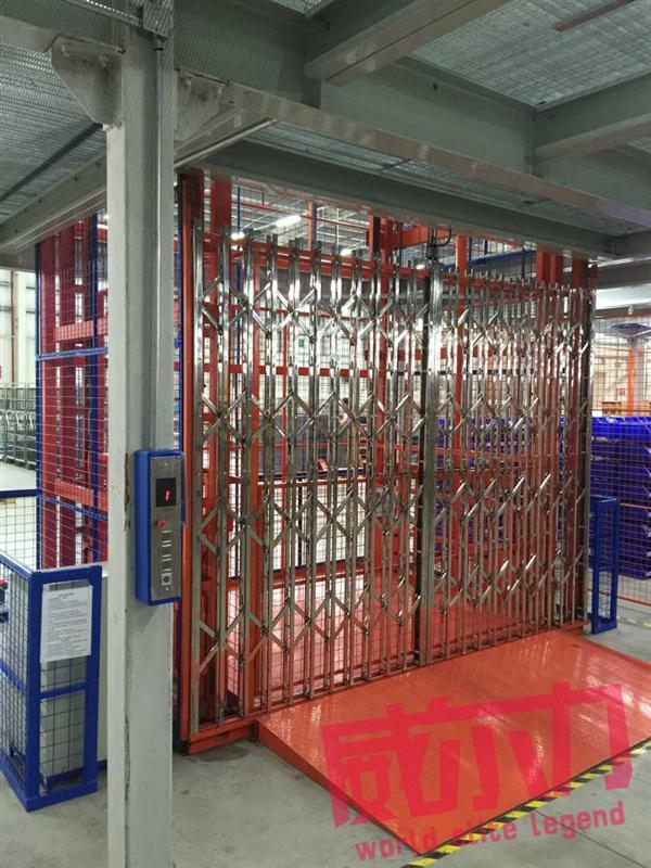 建筑工地施工升降台户外双缸吊链式液压货梯威尔力供