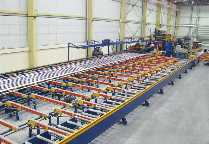 1800吨铝型材平移冷床,五级冷床生产线