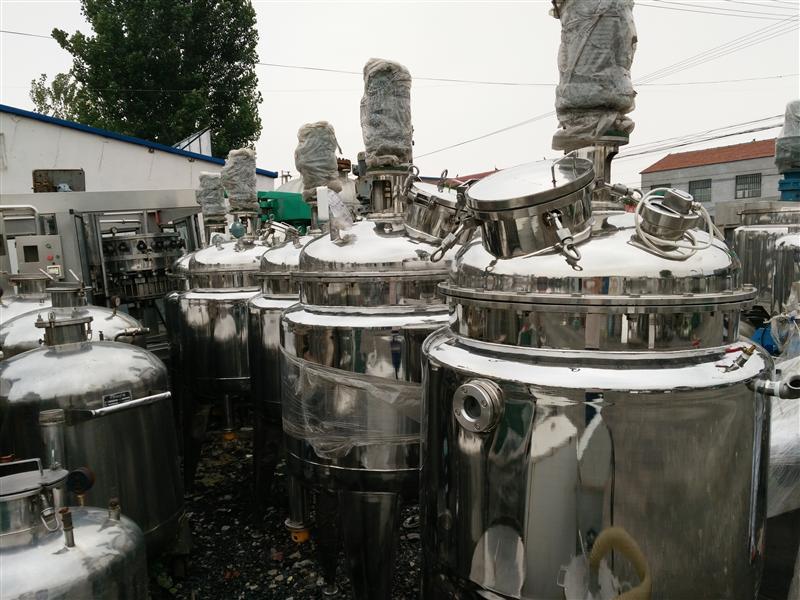 转让二手反应釜 不锈钢反应釜 搪瓷反应釜各型号齐全
