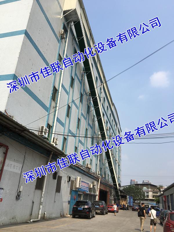廠房四樓五樓倉庫往下裝貨柜出貨滑梯卸貨梯