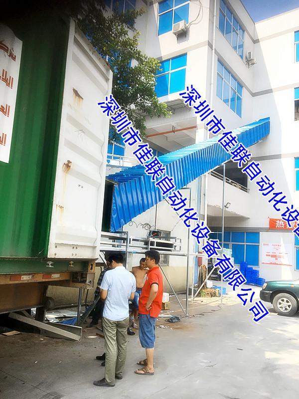 安装四楼出货滑梯提高出货装车效益