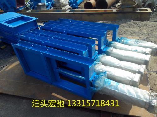 品质保证的 烟气电动插板阀 鄂式阀 腭式卸料阀 电液动腭式闸阀