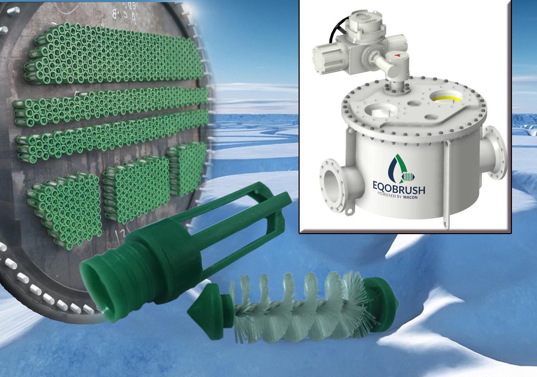 大型中央空调防垢Eqobrush全自动管刷式清洗系统