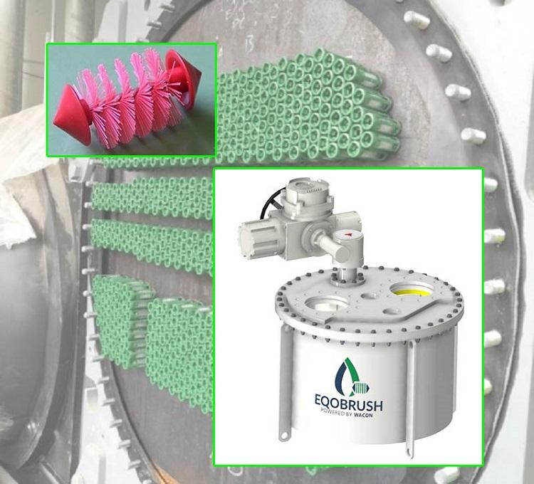 EQOBRUSH管刷在線清洗裝置 換熱器水循環物理清洗系統