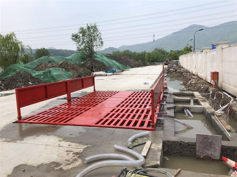 杭州洁凯工程洗车槽混凝土搅拌站高压洗轮机自动冲洗台