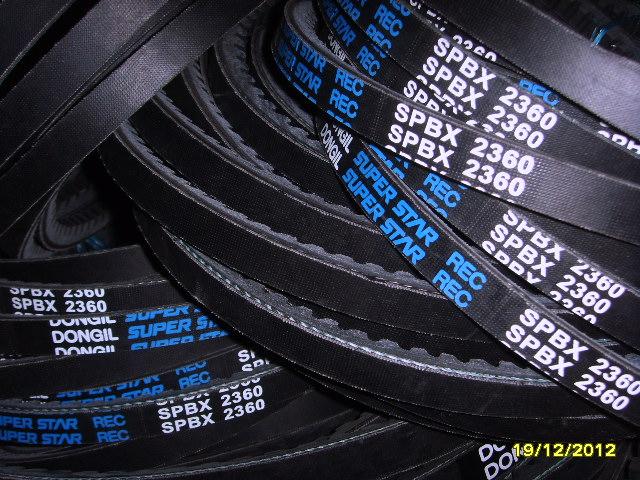 空调压缩机皮带XPB齿型三角带(规格表)