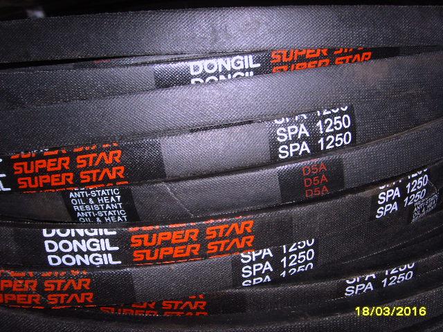 工业离心机皮带SPA包布三角带(规格表)