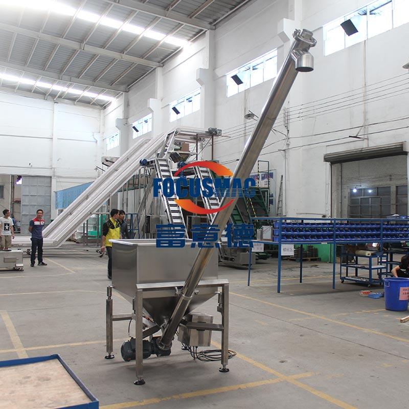 不锈钢管绞龙螺杆输送机管式螺旋提升上料机