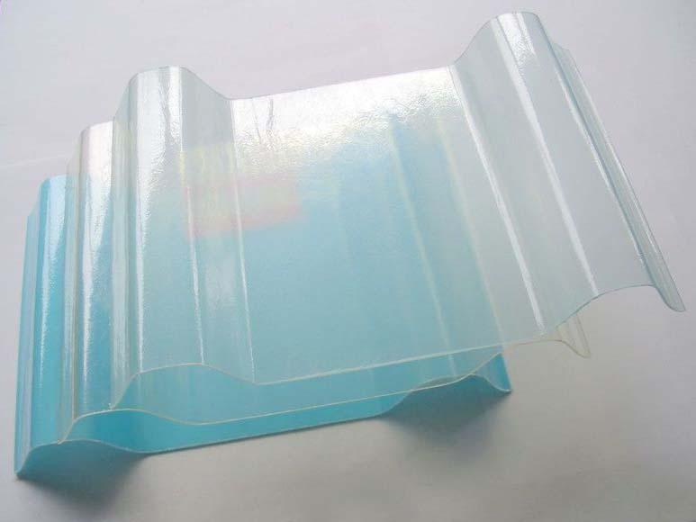 防腐蚀frp采光瓦透明瓦 透明玻璃钢隔热瓦 波浪采光板