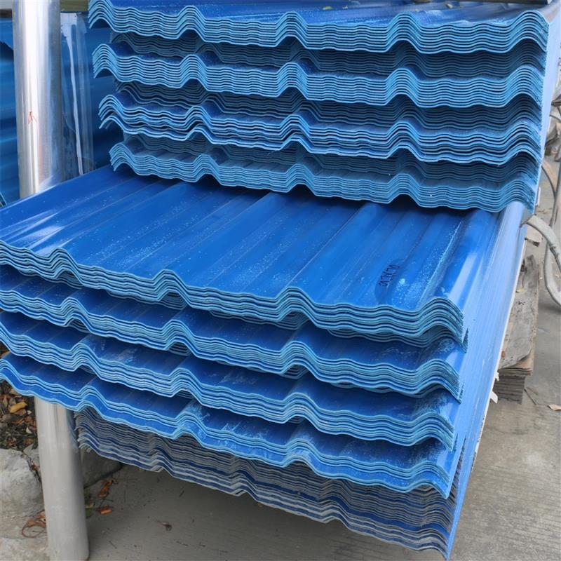 厂家批发PVC塑钢瓦 波浪屋顶隔热防腐塑钢瓦