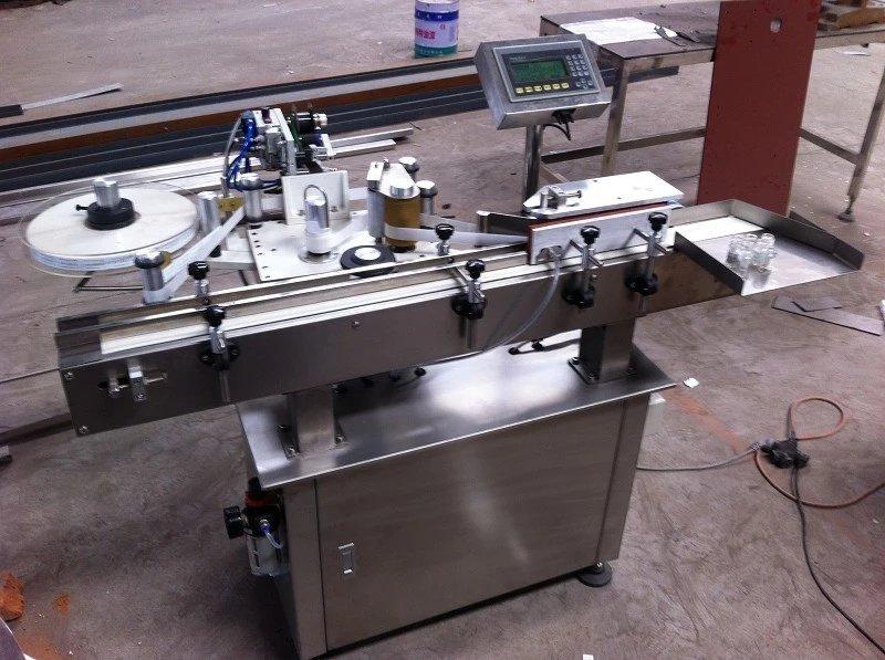厂家生产流水线全自动不干胶贴标机 圆瓶不干胶贴标机