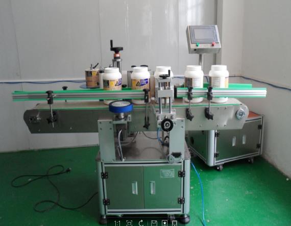 供流水线生产DY-FZ圆瓶不干胶贴标机  轧盖机