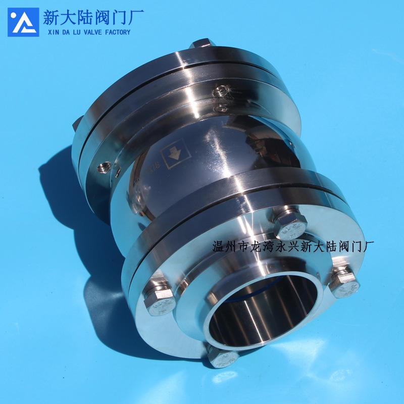 不锈钢卫生级止回阀 水处理专用单向阀