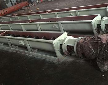 大斜角螺旋输送机的优缺陷,坤腾环保粉尘加湿机厂家