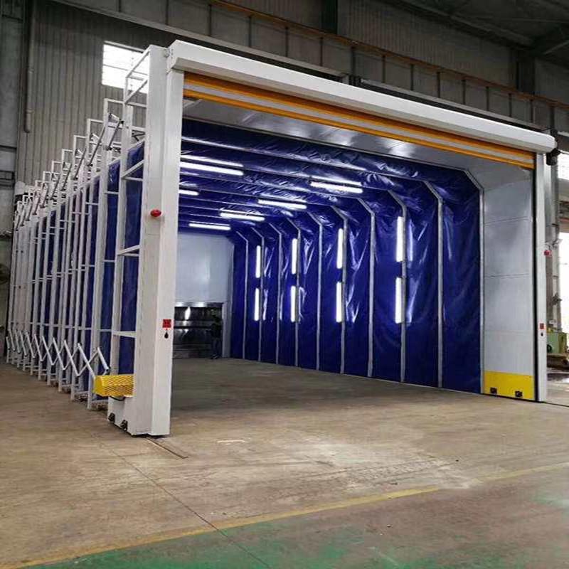 新型伸缩移动喷漆房 10米15米20米定制方案