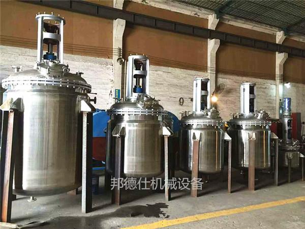 供应不锈钢反应釜 跑道胶生产设备