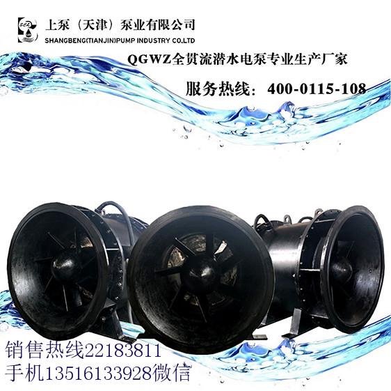 不锈钢叶片全贯流潜水电泵