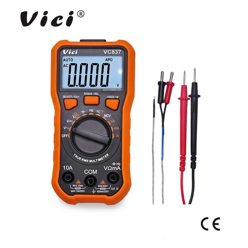 维希VICI 6000计数自动量程NCV带真有效值数字万用表VC837