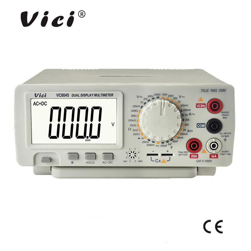 维希仪器VICI 四位半手动量程带真有效值台式数字万用表VC8045
