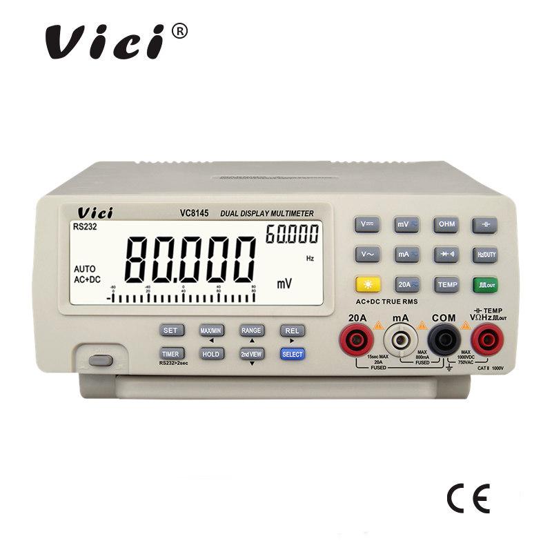 维希VICI 80000计数自动量程真有效值数字台式万用表 电脑连接