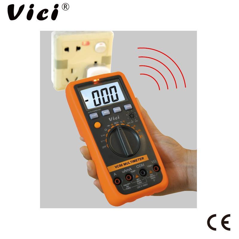 维希VICI 三位半自动量程NCV声光报警数字万用表VC86