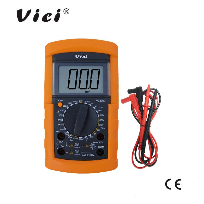 维希VICI 三位半手动量程数字万用表VC890D 学生专用表