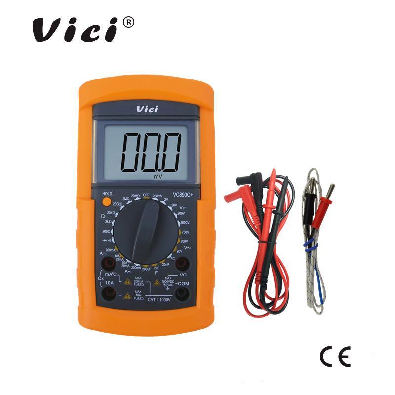 维希VICI 三位半手动量程数字万用表VC890C+ 学生专用表 可测温度
