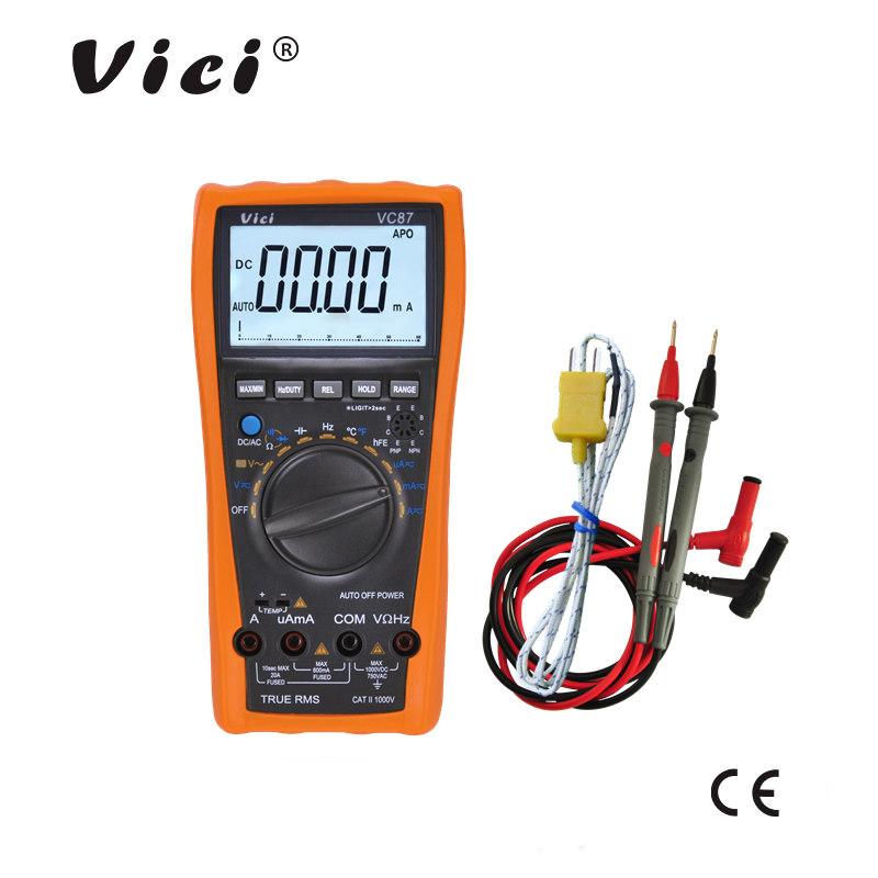 维希仪器 4000计数自动量程变频驱动电压测量数字万用表VC87