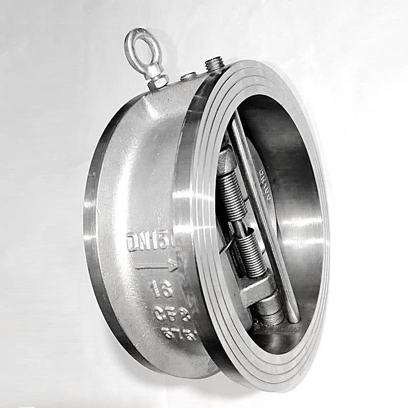H76W不銹鋼雙瓣蝶式對夾止回閥