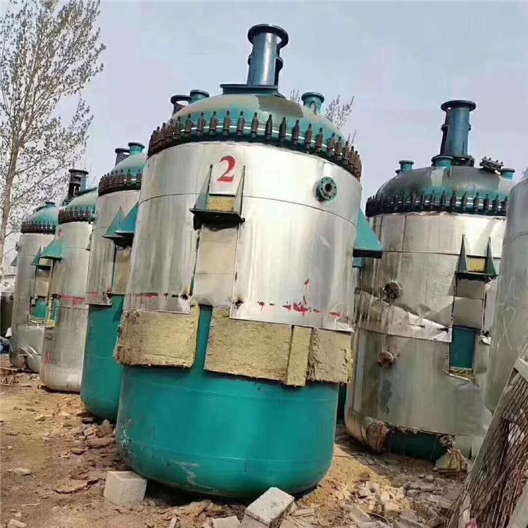 二手1吨2吨3吨钛材反应釜12吨搪玻璃反应罐