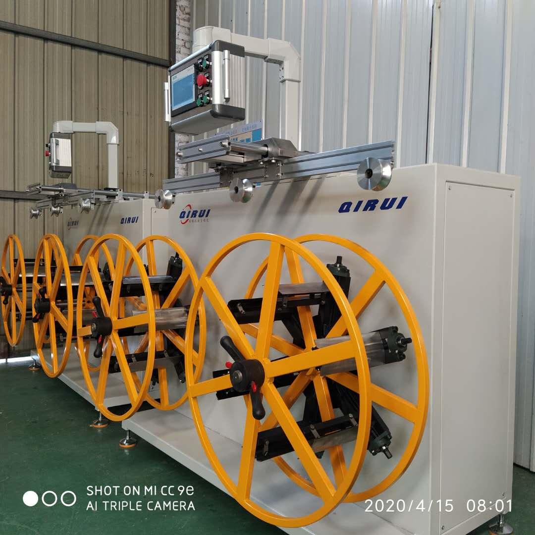 帶計米器全自動精準收卷機、變頻調速穩定膠管收卷機