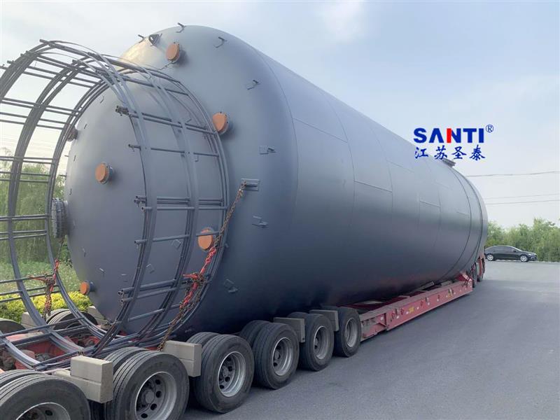 圣泰180立方钢衬塑化工液体储罐高效耐腐