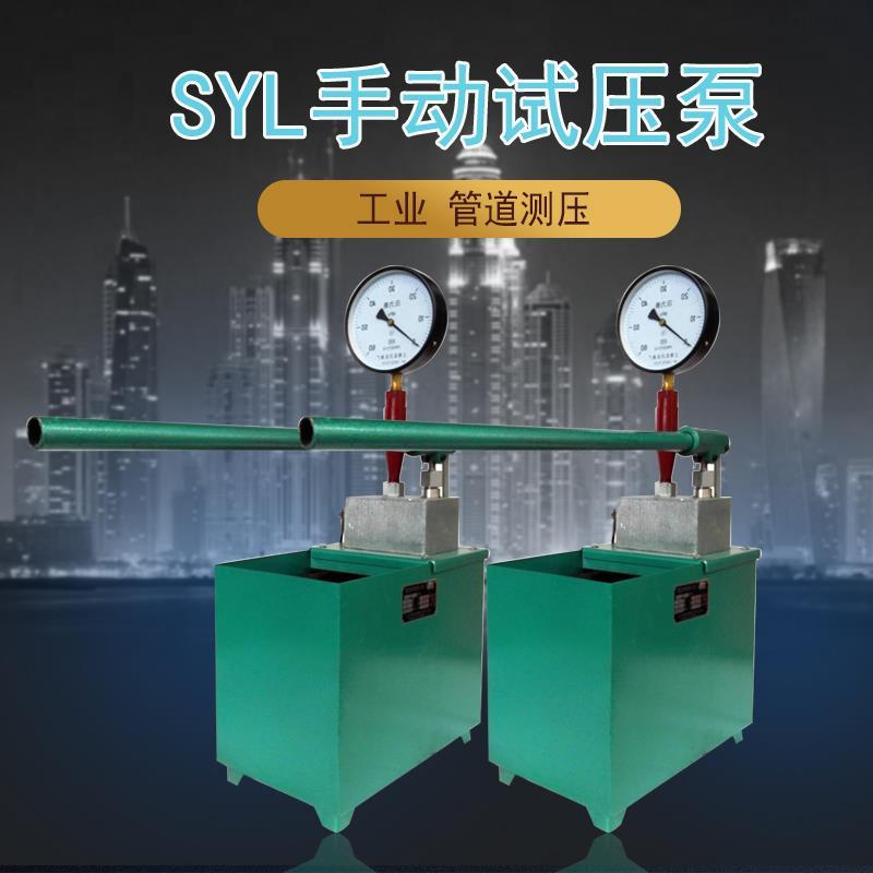 SYL-12/20 mpa单缸管道试压清水打压机化工阀门测试泵