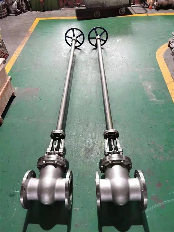 上海加长杆不锈钢法兰闸阀特殊定制加工