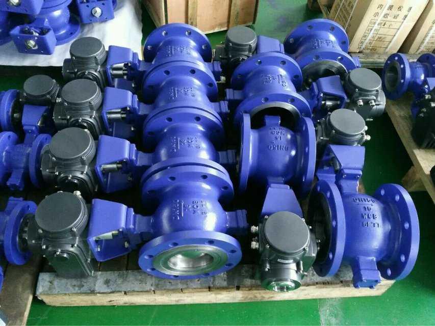 上海V型法兰球阀-V型对夹切断阀厂家直销