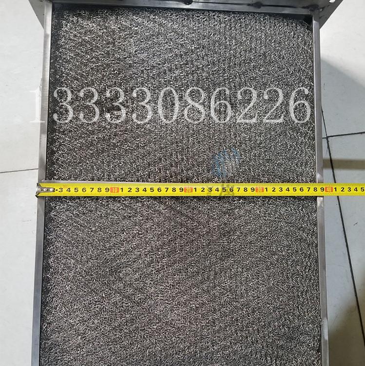 抽屉式不锈钢丝网除雾器 异形丝网破沫器 规格型式厂家定做